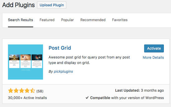 Post Grid Plugin