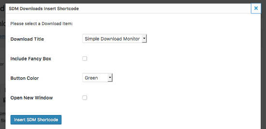 Simple Download Monitor shortcode