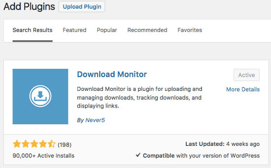 Download Monitor Plugin