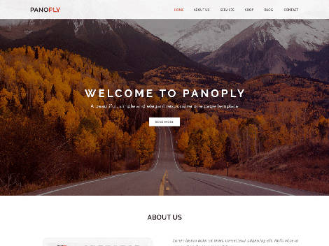 Theme WordPress Panoply Responsive Free