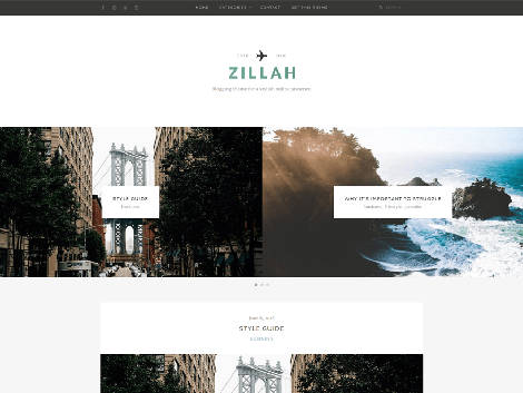 Theme WordPress Zillah Responsive Free