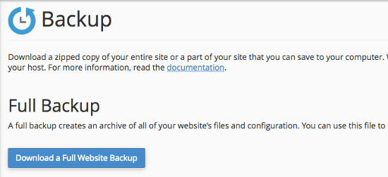 Cara Backup WordPress Backup Control Panel cPanel