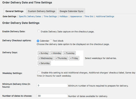 Date Setting Order Delivery Date Pro