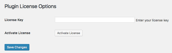 Plugin License Options
