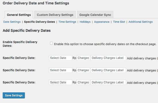 Specify Date Order Delivery Date Pro
