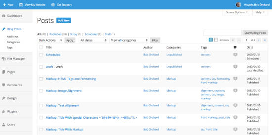 Tema admin WordPress Fance Admin UI