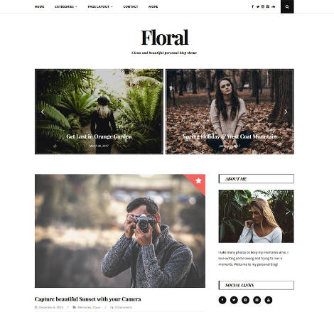 Theme WordPress Floral Responsive Free