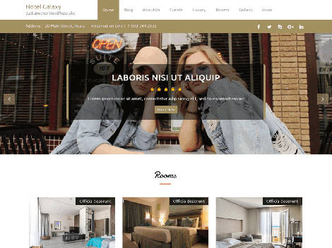 Theme WordPress Hotel Galaxy Responsive Gratis