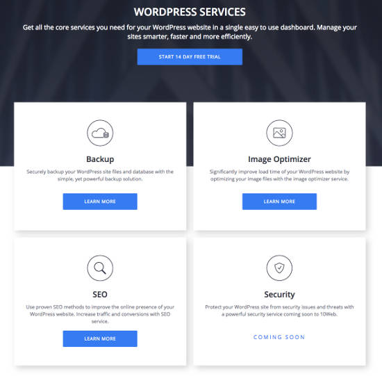 10web Premium WordPress Services