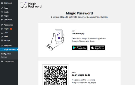 Magic Password Configuration 1