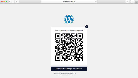 Magic Password Log In WordPress