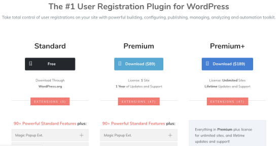RegistrationMagic Form Builder WordPress Harga