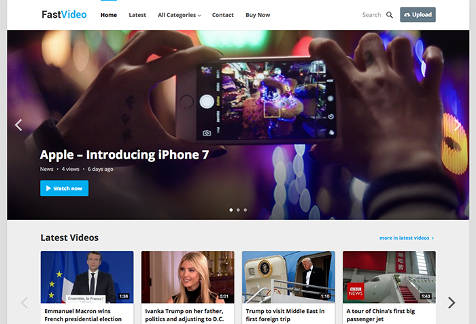 Theme WordPress FastVideo Responsive Free
