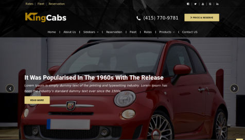 Theme WordPress KingCabs Responsive Free