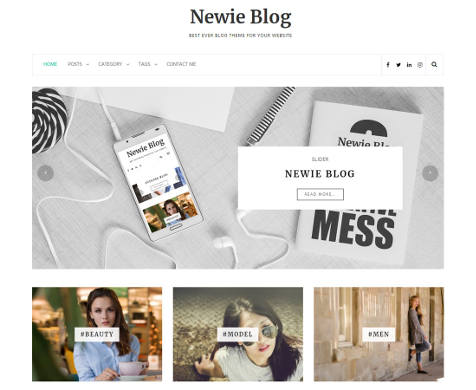 Theme WordPress Newie Blog Free
