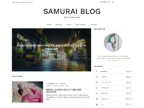 Theme WordPress Samurai Responsive Free