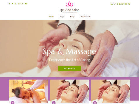 Theme WordPress Spa and Salon Responsive Free