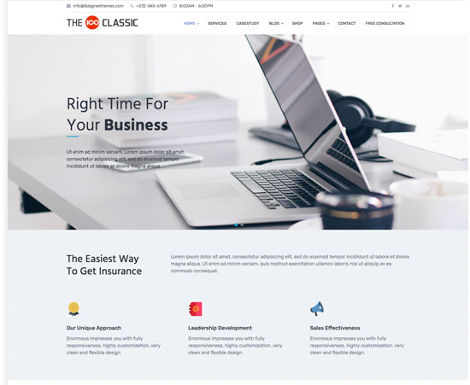 Theme WordPress The 100 Responsive Free