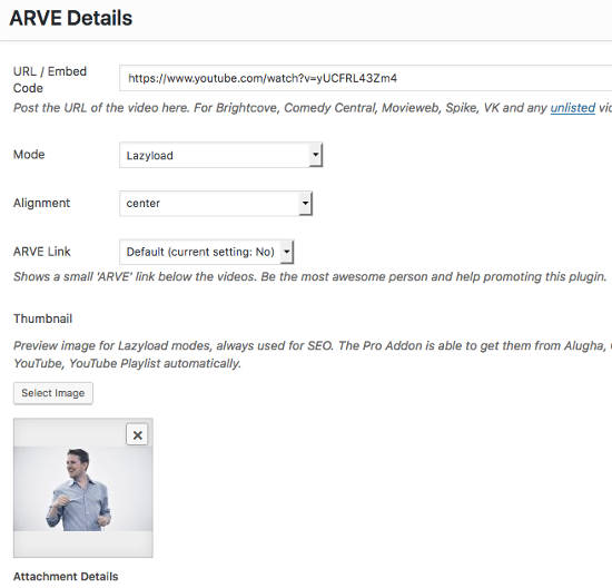 ARVE Advanced Responsive Video Embedder Detail