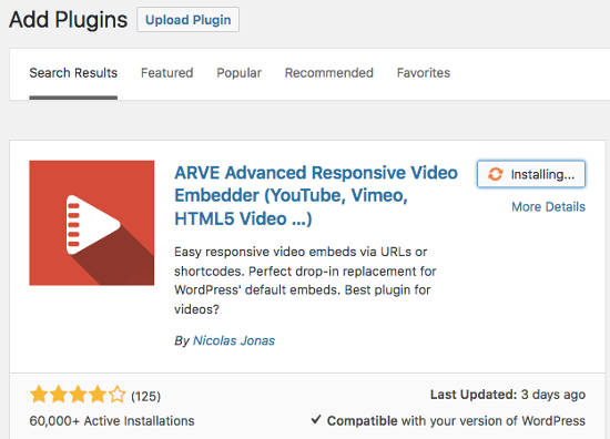 ARVE Advanced Responsive Video Embedder