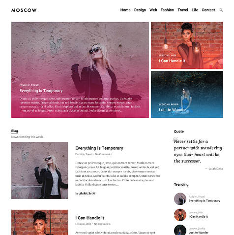Theme WordPress Moscow Responsive Free
