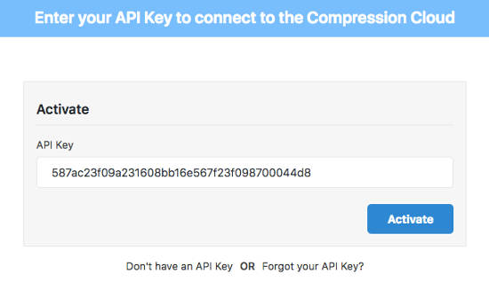 WP Compress Optimalkan Gambar Api Key 2