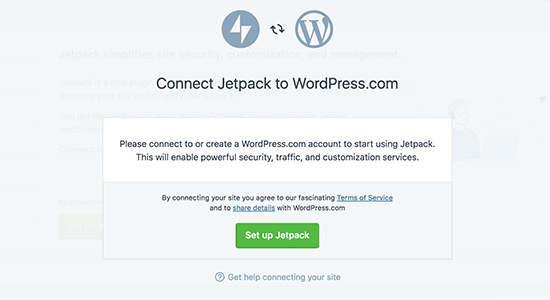 WordPress Desktop connect jetpack