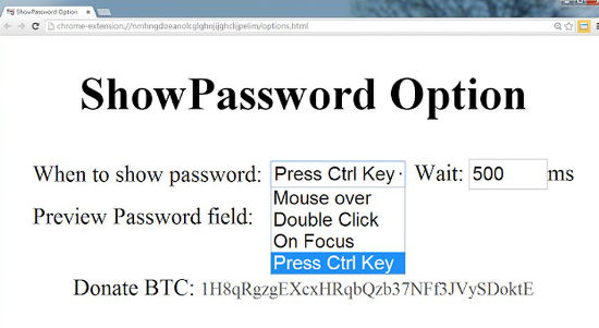 Cara Melihat Password show password option