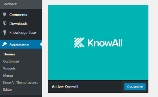 KnowAll Theme Knowledge Base WordPress Install