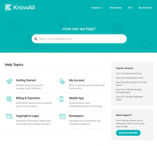 KnowAll Theme Knowledge Base WordPress