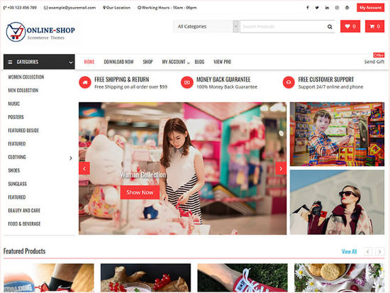 Online Shop Theme WordPress Toko Online WooCommerce