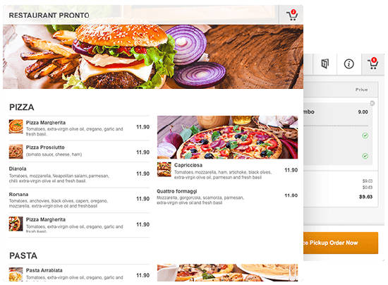 buat website restoran GloriaFood Menu Frontend
