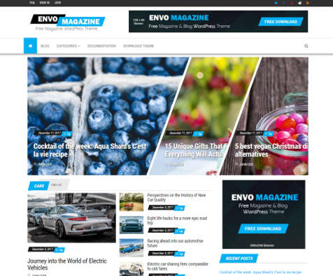 Theme WordPress Envo Magazine Free