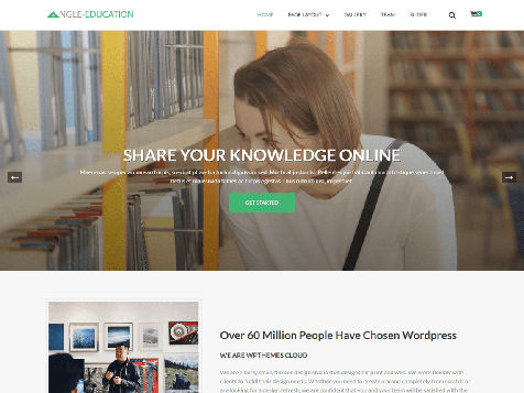 Theme WordPress The Angle Education Responsive Free