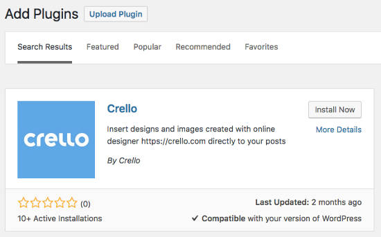 Crello WordPress Plugin