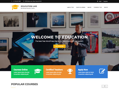 Theme WordPress Education LMS Responsive Free