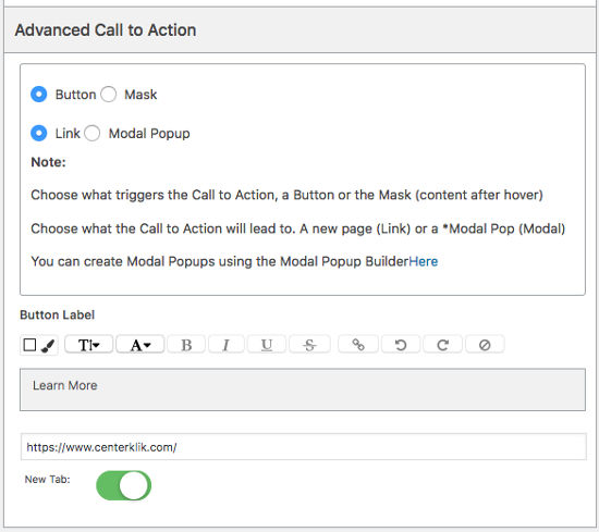 Visual Slide Box Builder Call to Actions