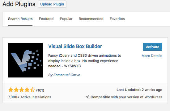 Visual Slide Box Builder Install