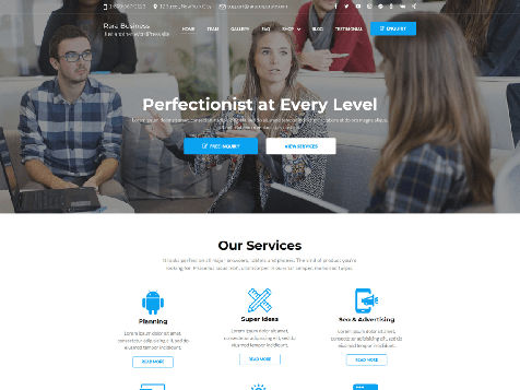 Theme Rara Business Responsive Free