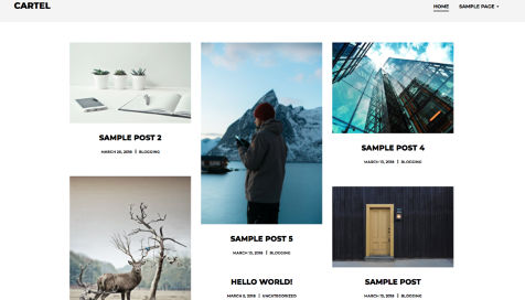 Theme WordPress Cartel Responsive Free