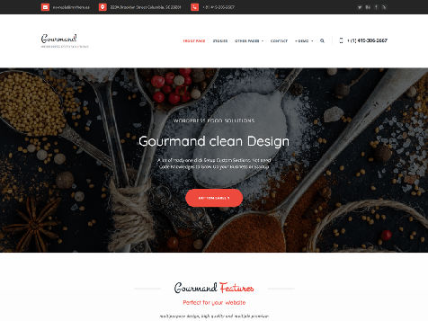Gourmand Responsive Free WordPress Theme
