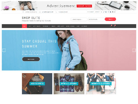 Theme WordPress Shop Elite Free