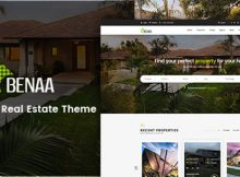 Benaa Theme WordPress Real Estate