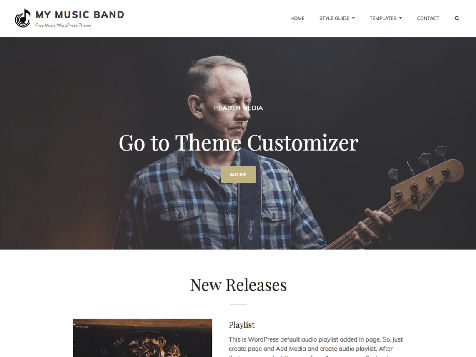Theme WordPress My Music Band Free
