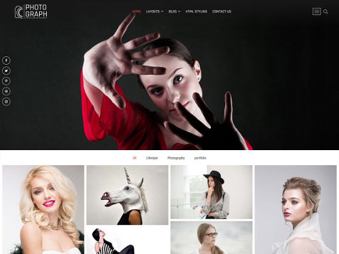 Theme WordPress Photograph Responsive Free