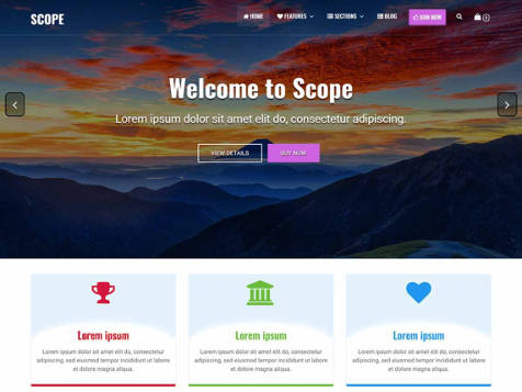 Theme WordPress Scope Responsive Free
