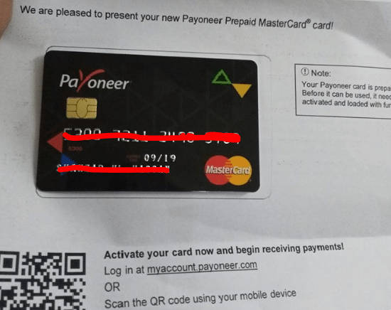 Payoneer activation