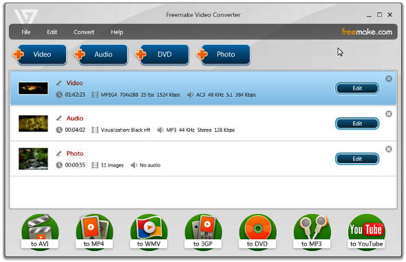 Software Video Editing Gratis Freemake converter