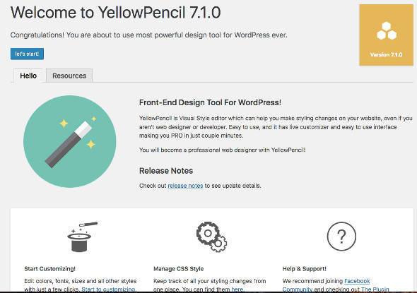 Yellow Pencil Visual CSS Editor Welcome