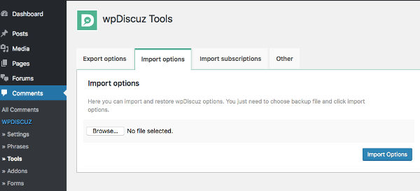 wpDiscuz komentar WordPress Tools